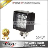 4x4 cube 27W led work light flood beam for agriculture equipment truck trailer harvester forestry machinery