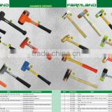 double face hand tools install hammer yellow brass and nylon head hammer mallet with wooden handle