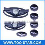 For Hyundai Genesis Coupe Matte Black WING Car Logo Emblem Stickers Set 7pcs