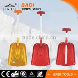 two section PC T handle anodizing collapsible aluminum snow shovel