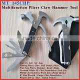 "(MT-145CHP) 6.5"" Stainless Steel 14 in 1 Multi-function Combination Claw Hammer Pliers Tool Set"