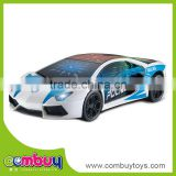 Newest battery operated plastic police toy track toy with light up car