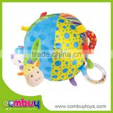 Wholesale rattles set cartoon funny ball baby plush toy