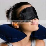 3 in1 Travel Set Inflatable Neck Cushion Pillow + Eye Patch + Earplug Comfortable Travel Accessories