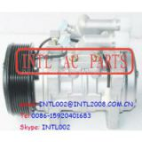 Trator CNH / Case / New Holland / Valtra T-180 auto ac compressor with valve DENSO 10P15 10P15C 8 Ears 8pk