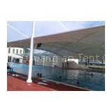 Outdoor Tensile Membrane Structure With High Tensile Fabric For Swimming Center