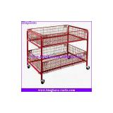 KingKara Steel Supermarkt Display Basket