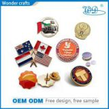 Personalized die cast brass gold plating custom logo souvenir magnetic epoxy badge label pins