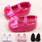 New Sweet Anti-slip Flat Flower Princess First Walkers PU Baby Newborn Shoes