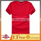 Promotional cheap round collar t-shirt costomized short sleeves