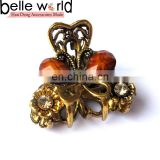 Elegant Europen Retro Mini Alloy Rhinestone Jewel Hair Claw Clip