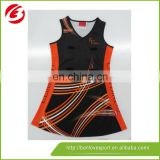 2016 high quality wholesale sublimation netball dresses