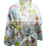 Chinavictor Summer Wear 100% Cotton Women Adult One Size Japanese Peignoir