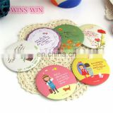 Hot Sell Products presonalized ODM custom design small size round shaped plastic hand mirror