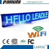 Blue Scrolling Wireless Programmable LED Sign Display Wifi Connection