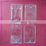 Polystyrene(PS) material Vertical clear Badge ID card Holder