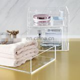home furniture acrylic bathroom organizer bath tub organizer bath room accessories