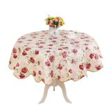 Factory supplying new design  printed pattern PEVA table cloth for hotel