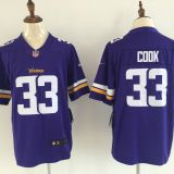 Minnesota Vikings #33 Cook Purple Jersey