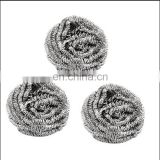 spiral stainless steel scourer cleaning ball for kitchen cleaning