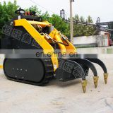 Compact Mini Rubber Track Skid Steer Loader