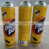 5 color CMYK printing empty aerosol cans packaging boxes and TIN BOX