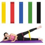 colorful 5pcs 100% natural latex resistance bands for strength training