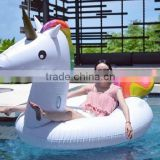 Summer inflatable swimming cartoon ring water inflatable unicorn mounts PVC inflatable floating air bed