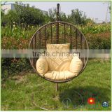 Outdoor Cheap PE Plastic Wicker Patio Furniture Hanging sofa Rattan Swing Chair Round Hammock