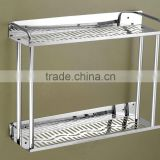 Wesda stainless steel bathroom corner shelf 823-400mm-600mm