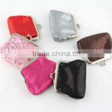 New mesh clip clasp coin purse kiss lock wallet