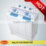 Electric/Mechanical semi automatic top load double tub bucket washing machine