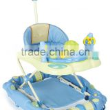 Hot Sale Round Toy Baby Walker Can Rock with Push Bar LW18-632P