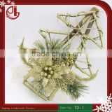Christmas Home Decoration Glitter Powder Wood Pine Christmas Tree Ornaments Wholesale Christmas Ornament Suppliers
