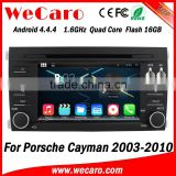 Wecaro Android 4.4.4 WIFI 3G car navigation dvd player for porsche cayman dvd android multimedia player system 2003-2010