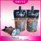 My beau dog&cat food packaging bag for 300ml/Customized food plastic packaging bags/Spout pouch