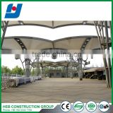 High qulity steel structure engineering design car parking with mezzaine floor car parking