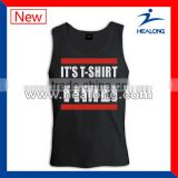 wholesale design cotton singlet with custom printing