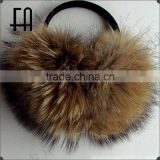 Factory direct wholesale price winter fur earmuff/raccoon fur earmuff