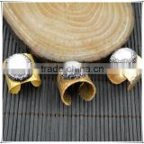 LFD-002R ~ Gold Plated Druzy Pearl Pave Rhinestone Crystal Rings For Women Jewelry Finding