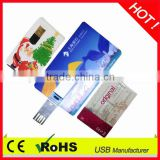 promotional gift credit card usb stick with OEM logo