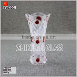 wholesale purple glass flower giant glass vase for wedding decoration