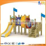 Custom made commercial outdoor wooden playground slide for kids