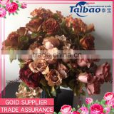 Artificial fabric rose hydrangea high quality home decoration fabric rose hydrangea bouquet                                                                         Quality Choice