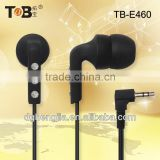 2014 new best quality black in-ear earphones/earbuds for cell phone/laptop/Tablet PC China manufacturer supplier in Dongguan