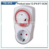 universal socket time switch plug timer 12 volt programmable timer switch / countdown timer switch mechanical 24 hours mechanic