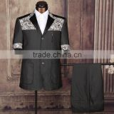 Promotional mens short sleeve cutton suit design