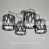 Novelty Modern Acrylic Chandelier Ceiling Lamp with Hollow glass lamp shade