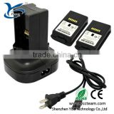 top quality dual charging station for xbox-360 with 2 rechargeable battery packs and charging cable