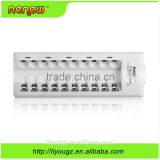 New brand!!! RENEW 10 Bay/Slot Quick Charger Smart Battery Charger for AA AAA Ni-MH Ni-Cd Rechargeable Batteries